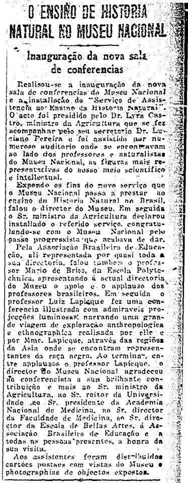 O Globo, 1927.