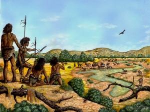 Humanos preparados para a caça (Ilustração: Maurílio Oliveira)
