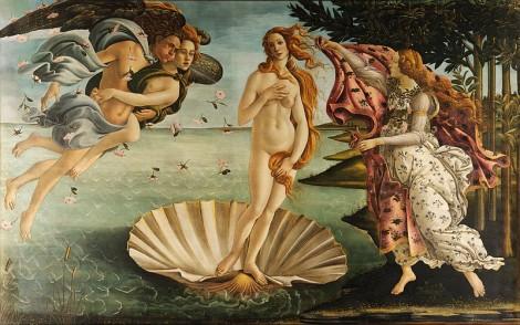 Imagem 5: Nascimento de Vênus, pintura de Sandro Botticelli. A obra está exposta na Galleria degli Uffizi, em Florença, na Itália.