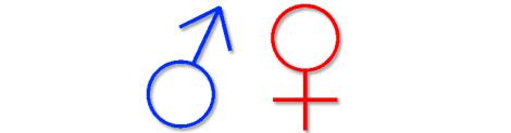 Imagem 6: Da esquerda para direita, símbolos  masculino e feminino.