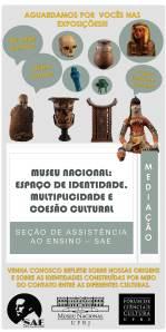 Conheça nossas origens e as diferentes culturas nas atividades lúdicas do Museu Nacional