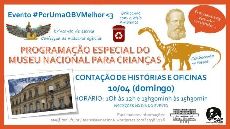 PROGRAMAÇÃO ESPECIAL DO MUSEU NACIONAL PARA CRIANÇAS