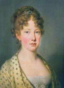 Maria Leopoldina da Áustria, retrato por Joseph Kreutzinger, 1815